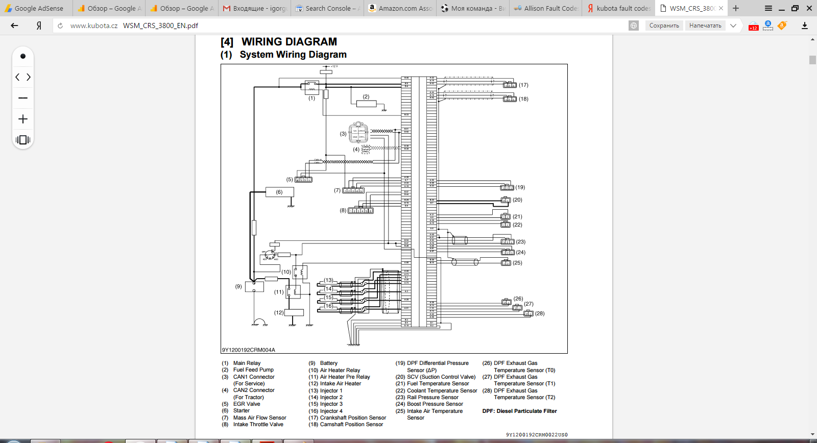 kubota wiring diagram pdf arbortech us rh arbortech us Kubota L3800 kubota b2400 electrical diagram